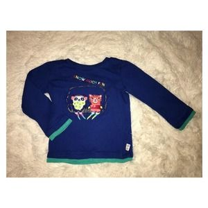 Gymboree Color Happy Snow Much Fun Blue Tee 3T